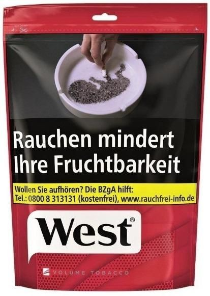 West Red Tabak 134g Beutel (Stopftabak / Volumentabak)
