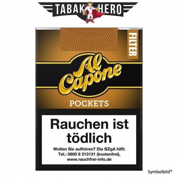 Al Capone Pockets Gold Filter (Irish Coffee) (10x18 Zigarillos)