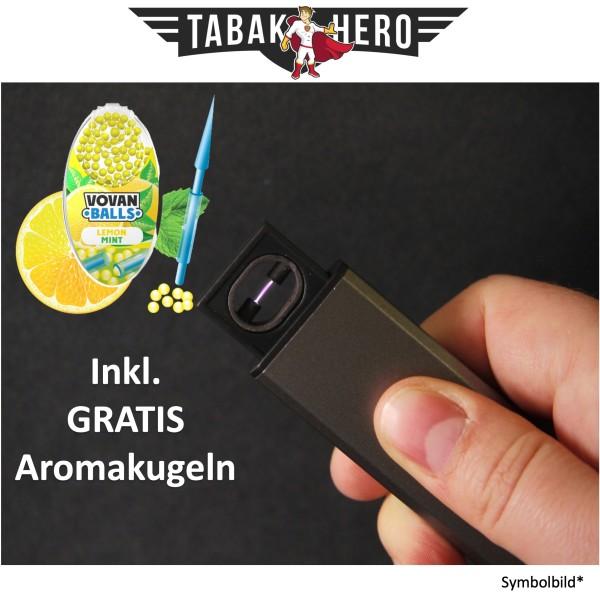 Edles Lichtbogen USB Feuerzeug + Gratis Vovan Aromakapseln Lemon Mint