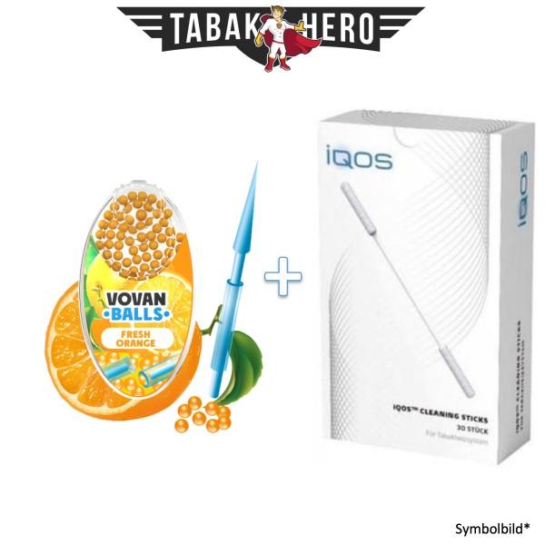 HEETS / IQOS Cleaning Sticks + 1x Aromakugeln Fresh Orange 100 stk.