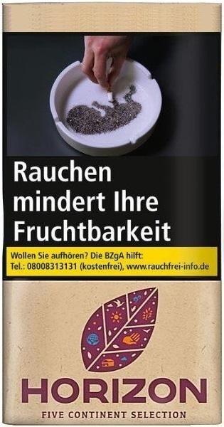 10x Horizon Five Continent Selection Tabak 30g Pouch (Drehtabak / Feinschnitt)