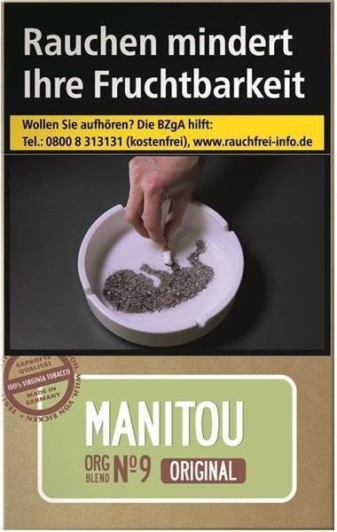 Manitou Org. No9 Green Zigaretten (20 Stück)
