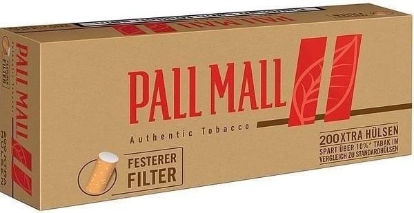 1000 Stück Pall Mall Authentic Red Xtra Hülsen Filterhülsen Zigarettenhülsen